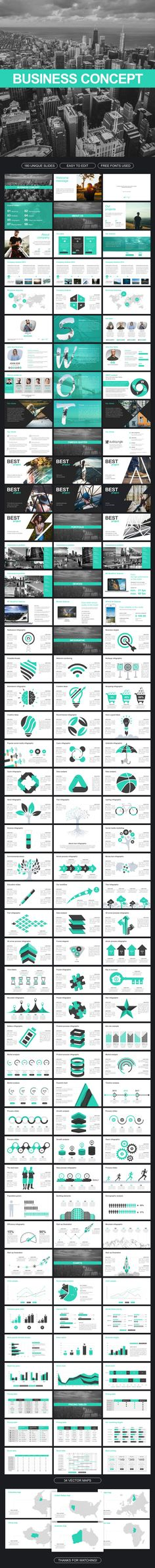 Business Concept Powerpoint - #Business #PowerPoint Templates Download here:  https://graphicriver.net/item/business-concept-powerpoint/20378394?ref=alena994