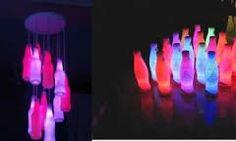 Image result for plastic bottle chandelier