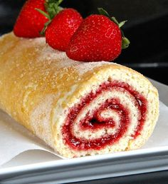A gluten free recipe for traditional Swiss Roll filled with jam. Made with a light and airy whisked sponge, fill with your favourite jam. Gluten Free Sponge Cake, Sponge Cake Recipes, Gluten Free Cakes, Gluten Free Baking, Vegan Gluten Free, Cupcake Recipes, Jam Roll, Vegan Jelly, Sponge Cake Roll