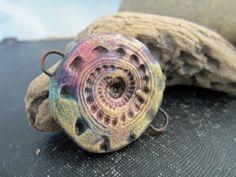 Artisan polymer carved bead | Staci Louise Originals