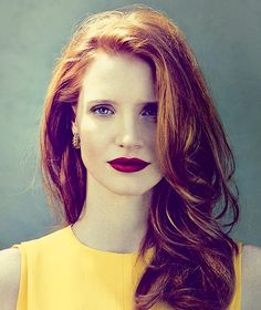 Jessica Chastain. Favorite actress the movie sector in these days. You should see her in THE HELP as Celia Foote..