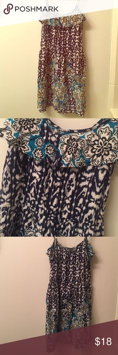 Blue Dress Blue dress with adjustable spaghetti straps. Size medium. Zipper down back. In good condition only worn a few times. Xhilaration Dresses Midi