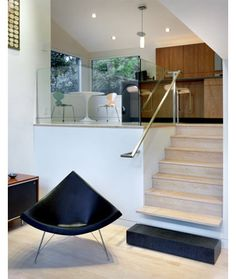 #Iconic Designs: George Nelson's Coconut Chair | Glass banister