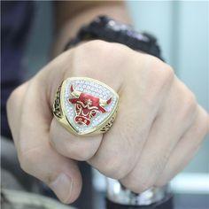 Custom 1993 Chicago Bulls Basketball World Championship Ring - Basketball Champs Rings - Customized