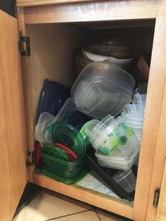 tupperware organization, organizing