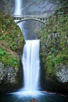 Multnomah Falls, Just outside Portland, OR across from the Columbia River.