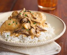 Served over pasta or rice, this heavenly chicken and its golden mushroom sauce make a deliciously easy weeknight meal. Just let the slow cooker do all of the work.