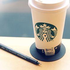 """with Starbucks"""