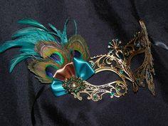 Pavo real máscara de la mascarada de Metal por TheCraftyChemist07
