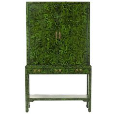 Faux Malachite Bar Cabinet | From a unique collection of antique and modern cabinets at http://www.1stdibs.com/furniture/storage-case-pieces/cabinets/