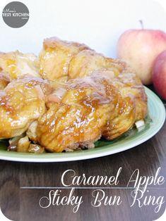 Caramel Apple Sticky Bun Ring