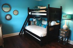 dark blue bedroom for girls - Google Search