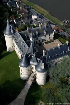 Chateau Chaumont, Loire Valley, France - Founded in the 10th century by Odo I, Count of Blois. In 1455 was destroyed by fire on the orders of King Louis XI, then rebuilt from 1465-1475 with funds from King Louis XI. In 1560 widow Catherine de Medici forced her late husband's mistress to exchange Chateau de Chenonceau for Chateau Chaumont.