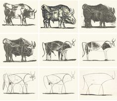 picasso bull simplification - Google Search
