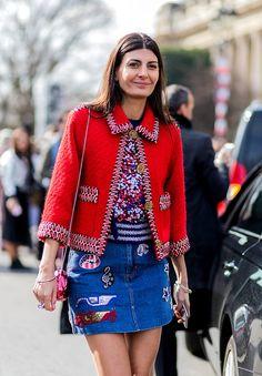 Giovanna Battaglia /  skirt jeans
