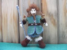 NoriDwarf crochet doll inspired by Tolkien's book and