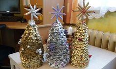 Vánoční stromečky z těstovin - dílnička maminek 2015