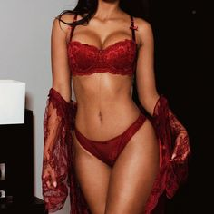 Gorgeous red lingerie sexy bra and panties Hot Lingerie, Lingerie Bonita, Pretty Lingerie, Beautiful Lingerie, Lingerie Sleepwear, Nightwear, Lingerie Seductive Hot, Lingerie Sets, Women Lingerie