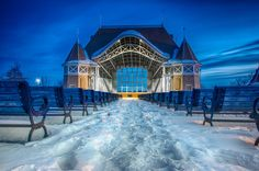 Lake Harriet Bandshell by Mark Goodman on Capture Minnesota // This always reminds me of Disneyworld in a way. Except with maybe more snow ;)