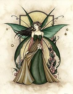 Green Fairy ~ Jessica Galbreth  love this artist.  Have many of her fairy statues........