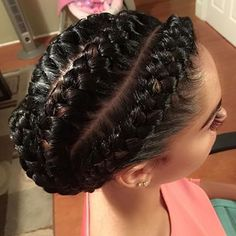 STYLIST FEATURE| This #goddessbraids bun styled by  #STLStylist @Mzpritea are GORGEOUS So neat❤️ #voiceofhair ========================= Go to VoiceOfHair.com ========================= Find hairstyles and hair tips! =========================