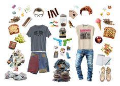 """""""sᴜᴍᴍᴇʀ ᴛʀᴇᴇʜᴏᴜsᴇ ᴄʟᴜʙ; ᴊɪᴍᴍʏ ᴀɴᴅ ᴊᴀᴄᴋ"""" by monosymetricindoxyl ❤ liked on Polyvore featuring art, Summer, Punk, grunge, 90s and treehouse"""
