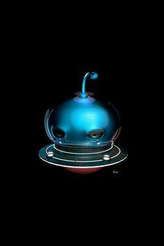 "#blender #3D #character ""Bubble Alien"" - Blender 2.77a. Cycles Render 300 Samples"