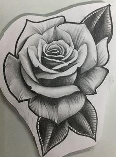Rose Tattoo Stencil, Rose Drawing Tattoo, Flower Tattoo Drawings, Tattoo Design Drawings, Tattoo Sketches, Rose Flower Tattoos, Rose Tattoos For Men, Black Rose Tattoos, Tribal Rose Tattoos
