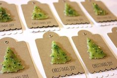 Tags idea using trees (Shrinky Dink, UTEE & beads)