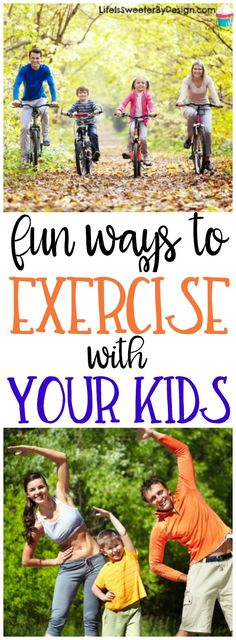 Fun ways to exercise with your kids will make working out a breeze. Family exercise is rewarding and these ideas won't seem like work.
