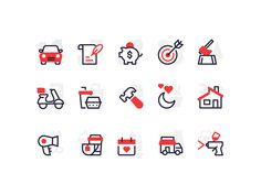Category Icons by Scott Tusk for Yelp Design on Dribbble Flat Design Icons, Icon Design, Ux Design, Print Design, Create Icon, Health Icon, Website Icons, Brand Icon, Best Icons