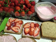 Strawberry sandwiches for my   #PearlsAndTea class