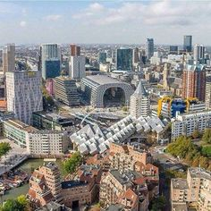 ☆my hometown....The new skyline of Rotterdam with the addition of the Markthal!