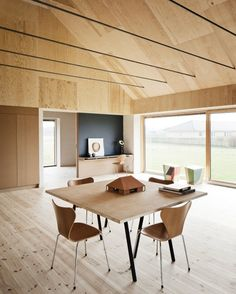 Timber interior wall and ceilings