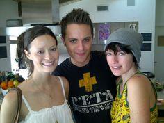 Summer Glau, Thomas Dekker and Lena Headey (The Sarah Connor Chronicles).