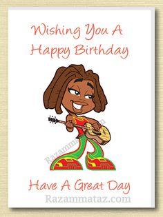 African American Girl Birthday Card E