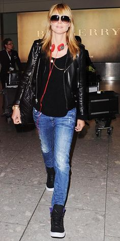 The 17 Celebrities Who Are Kicking It In Stylish Sneakers - Heidi Klum - from InStyle.com