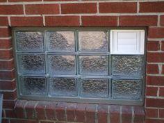 Dryer vent in a glass block window