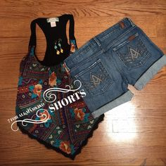 Cute 7 for mankind cutoff shorts. Size 27 Great condition V gemstone crystal pockets 7 for all Mankind Shorts Jean Shorts