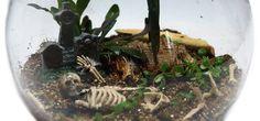 Scary Skeleton DIY Terrarium Kits! Easy & Quick Halloween Decor!