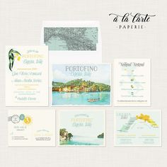 Portofino Italy Wedding Invitation