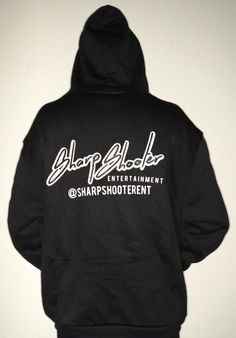 Sharp Shooter Entertainment Black Hoodie + Sizes – Available in sizes 3XL 4XL 5XL 6XL