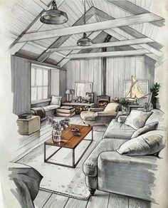 interior designers drawings. Interior Design Sketches A Source Of Inspiration. By Matveeva Anna. Interior Designers Drawings