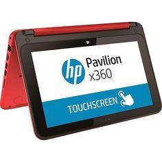 Notebook 2 em 1 HP Pavilion x360 11-n225br Pentium Quad Core 4GB 500GB Tela LED 11,6 Touch W10 - Vermelho