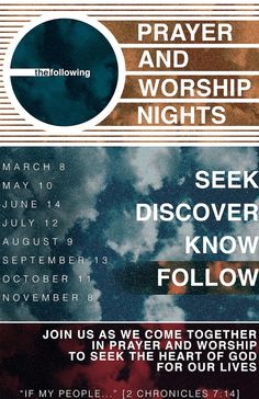 The Following , Prayer and Worship Nights poster