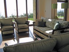 Fully Upholstered Trenail Sofas in William Morris fabrics by Rose and Heather NZ