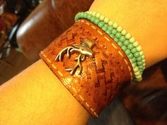 Deer Leather Cuff Bracelet by therusticchick on Etsy, $25.00