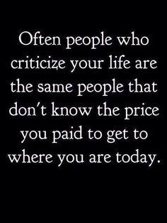 Don't let criticism bring you down! #macswomen #inspiration #motivation