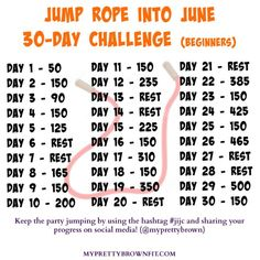 Jump Rope Into June 30-Day Challenge - #jijc