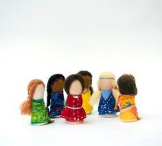 Rainbow Waldorf-Inspired Worry Dolls